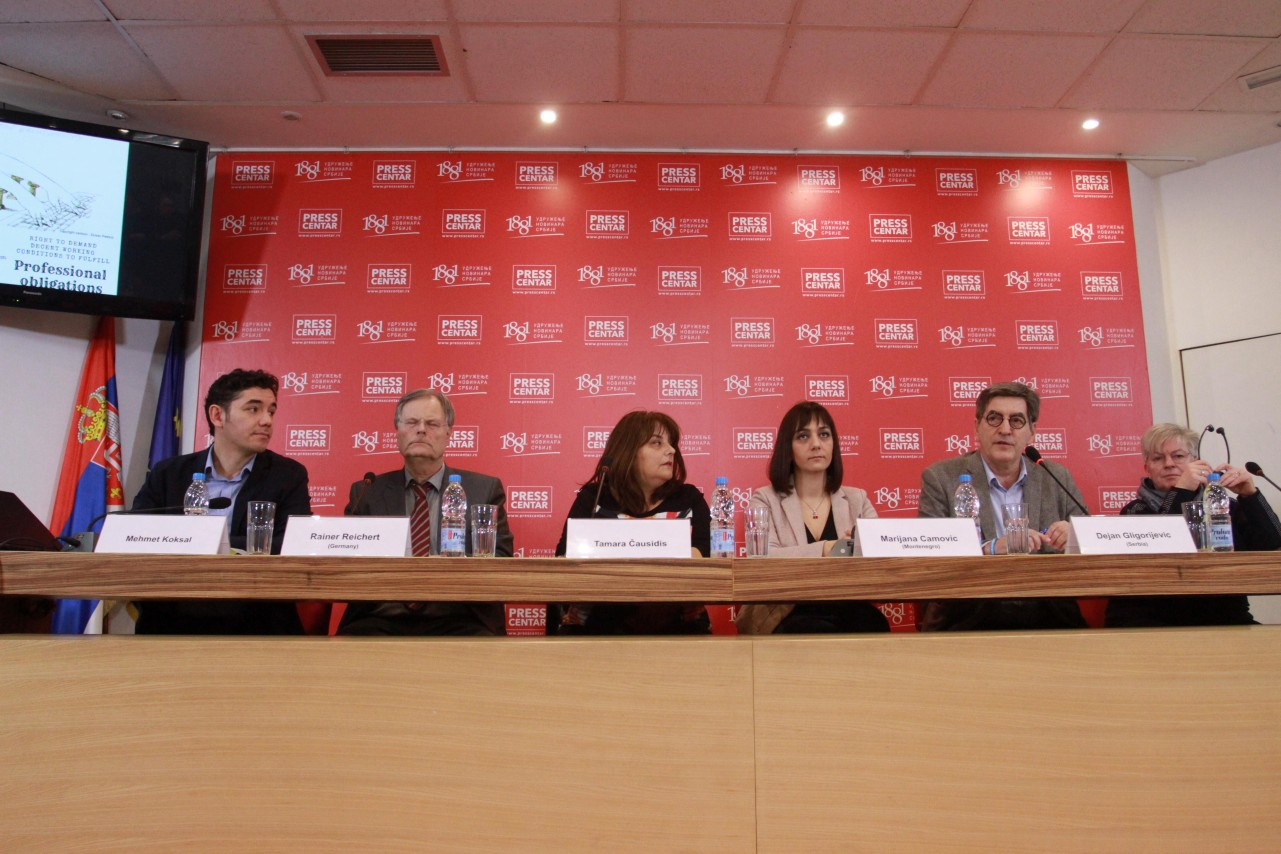 Launch Charter of Belgrade on journalists' working conditions 